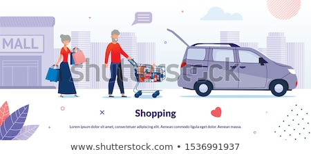 old woman carried on a car Stock photo © Giulio_Fornasar