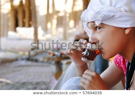 Tinilány turista Egyiptom szalmakalap piramisok nő Stock fotó © simply