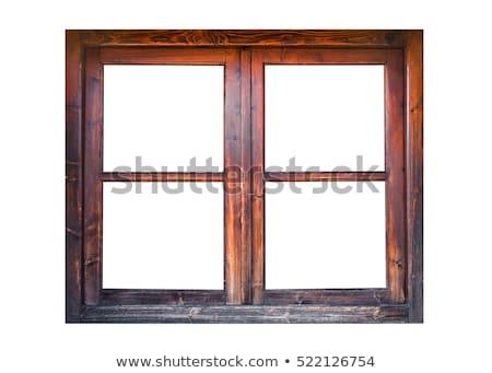 Eski pencereler yalıtılmış beyaz bağbozumu ahşap Stok fotoğraf © tab62