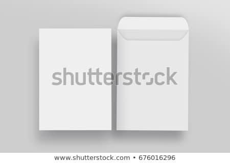 Foto stock: Branco · envelope · modelo · projeto · negócio