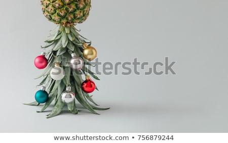 Natal árvore frutífera fruto branco sobremesa celebração Foto stock © M-studio