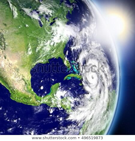 Foto stock: Norte · caribbean · espaço · nascer · do · sol · região