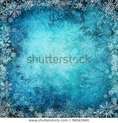白 凍結 雪 青 冬 ストックフォト © Evgeny89