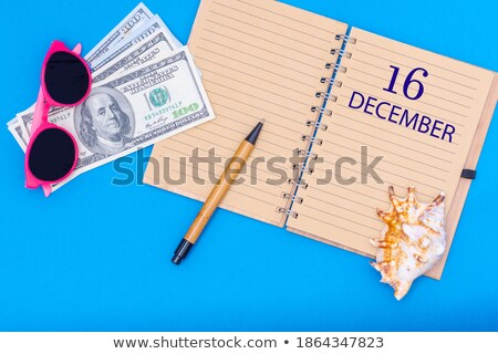 Opslaan datum geschreven kalender december 16 Stockfoto © Zerbor