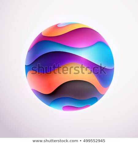 Abstract purple 3D spheres Stock photo © gravityimaging