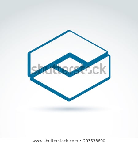 Abstract icon geïsoleerd witte business corporate Stockfoto © cidepix