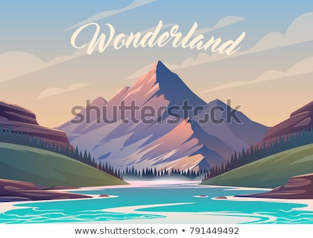 Incredible view. Peaks of mountains Stock photo © Vanzyst