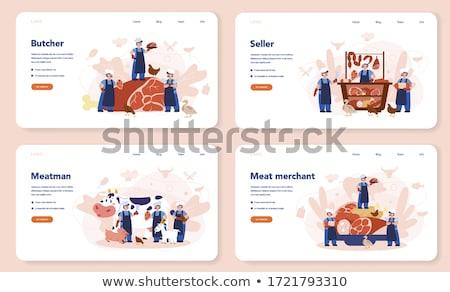 Szalonna vág friss hús termékek csíkok Stock fotó © Andrei_