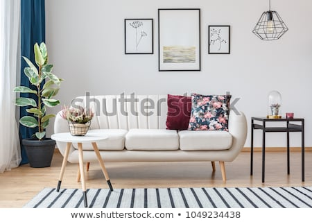Divano gamba sgabello illustrazione legno sfondo Foto d'archivio © bluering