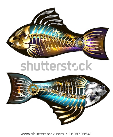 Two mechanical fish Stock photo © blackmoon979