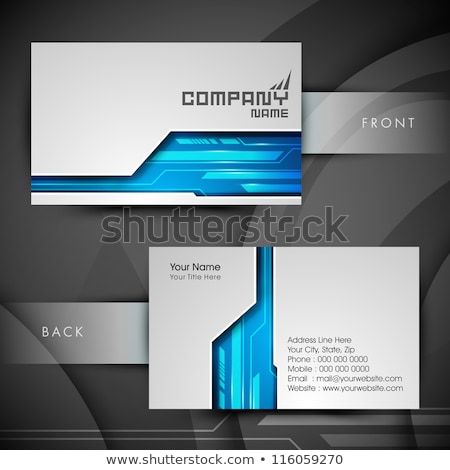 elegant blue business card stationary template design Stock photo © SArts
