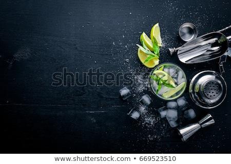 Lata mięty wapno koktajl mojito Zdjęcia stock © yelenayemchuk