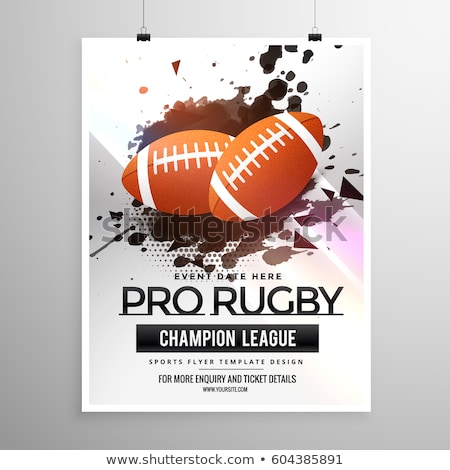 abstract rugby sports flyer design with grunge effect Stock photo © SArts