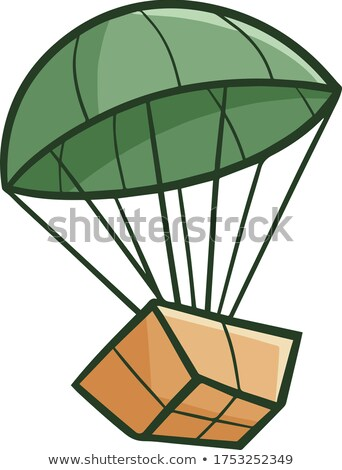 Funny package with parachute landing Stock photo © pcanzo