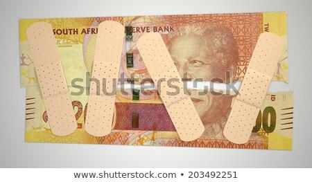 Nursed Torn South African Rand Stock photo © albund