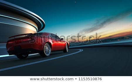 rear view of moving car at night stock photo © ssuaphoto