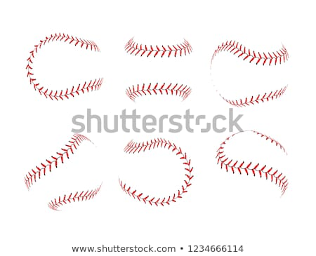 Lace from a baseball on a white background Stock photo © m_pavlov
