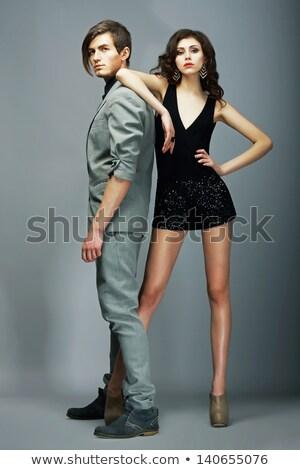 привлекательный · позируют · вместе · студию · модный - Сток-фото © neonshot