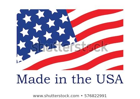 щит флаг США украшенный звезды Сток-фото © sharpner