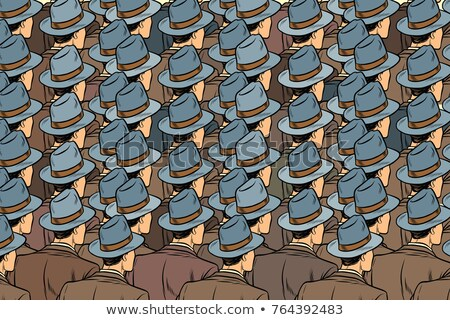background crowd of the same men, stand back Stock photo © studiostoks