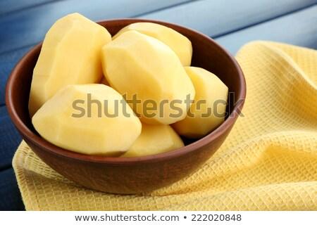 hámozott · krumpli · zöldség - stock fotó © digifoodstock