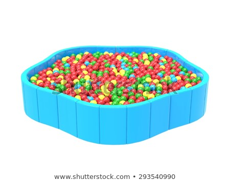 Red ball in swimming pool Stock photo © stevanovicigor