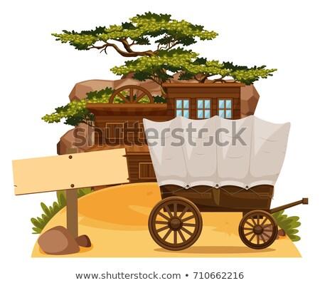 rodas · convés · madeira · abstrato · natureza - foto stock © bluering