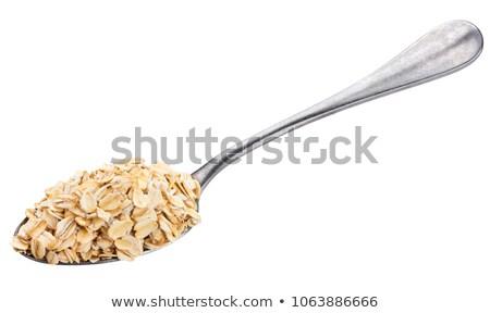 スプーン · 燕麦 · 白 · 新鮮な - ストックフォト © Digifoodstock