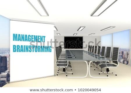 маркетинга Идея ноутбука конференц-зал 3D современных Сток-фото © tashatuvango