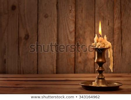Bougies antique brun chandelier beaucoup rouge Photo stock © carenas1