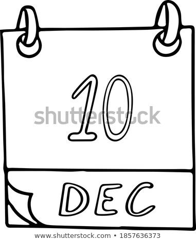 10 december wereld voetbal dag kalender Stockfoto © Olena