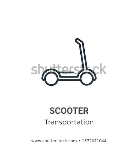 Retro scooter line icon. Stock photo © RAStudio