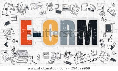 Bianco doodle stile elettronica cliente rapporto Foto d'archivio © tashatuvango