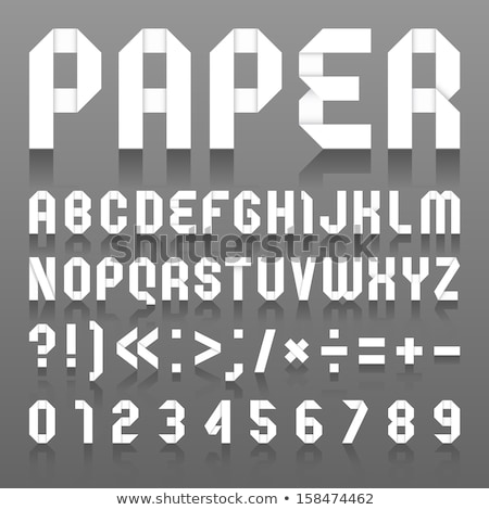 Font folded paper numeral Stock photo © Ecelop