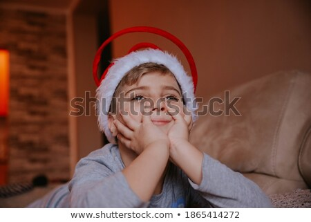 young blond boy on stool Stock photo © IS2