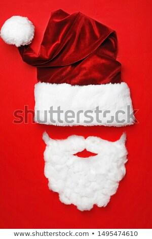 Minimális karácsony mikulás szakáll háttér tapéta Stock fotó © SArts