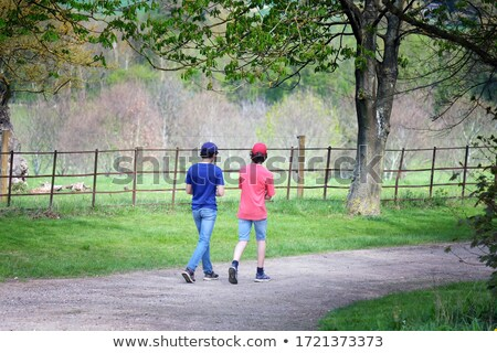Children chatting on country lane Stock photo © IS2