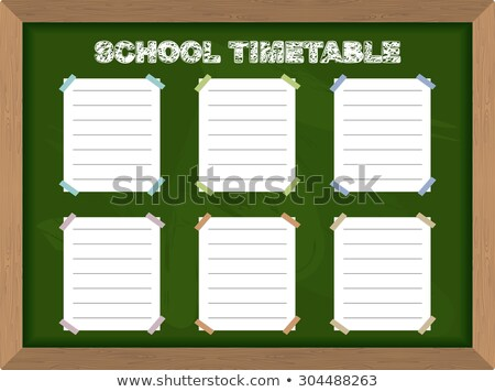Green Chalkboard with Hand Drawn Scheduling and Timing. Stock photo © tashatuvango