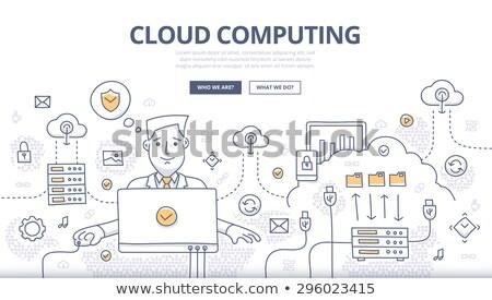 Online Communication Concept with Doodle Design Icons. Stock photo © tashatuvango