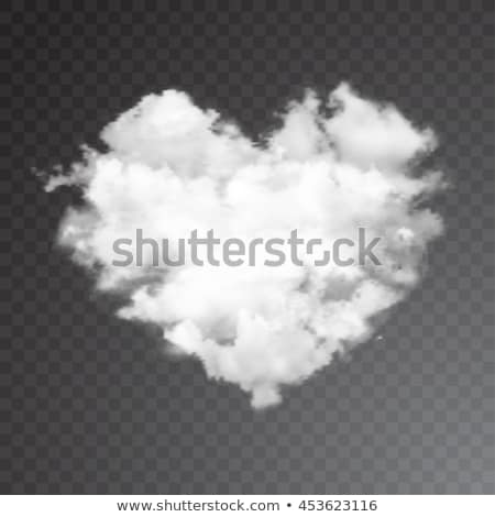 Heart Shaped White Fluffy Cloud in Bright Blue Sky Stock photo © frannyanne