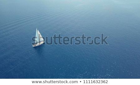 faible · voilier · horizon · plage · sport · nature - photo stock © zhekos