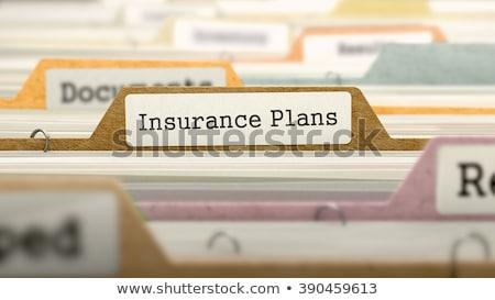 folder register with health insurance 3d rendering stock photo © tashatuvango