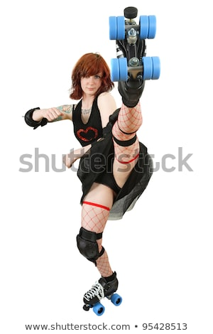 beautiful roller derby woman stock photo © sumners