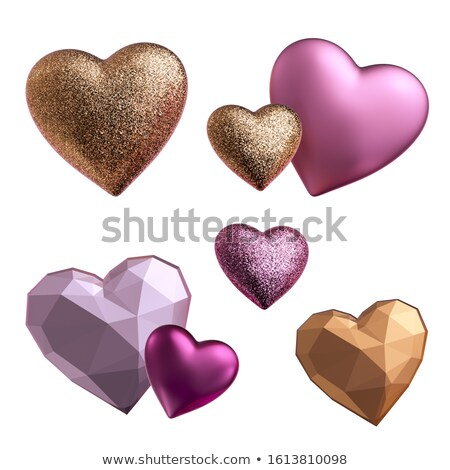 Valentine Icons with Glitter Stock photo © Voysla
