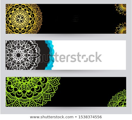bright mandala banners in blue and red colors stock photo © sarts