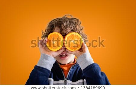 C vitamin gyermek diéta c betű citromsárga tabletták Stock fotó © FOTOYOU
