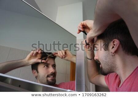 Giovane barba uomo home bagno Foto d'archivio © wavebreak_media