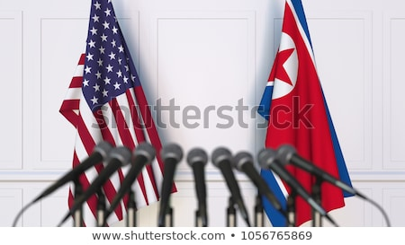 American-And-North-Korea Stock photo © Lightsource