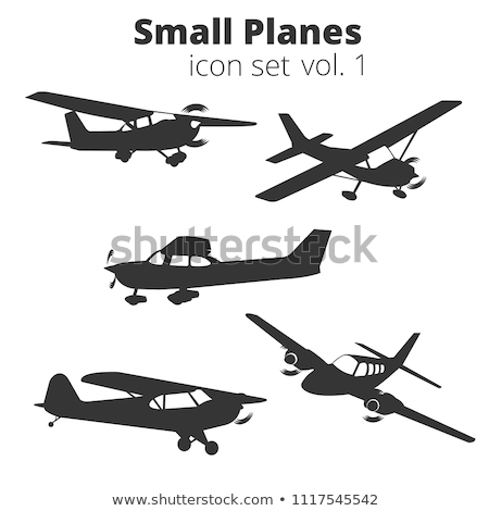 Small propeller airplanes isolated set Stock photo © studioworkstock