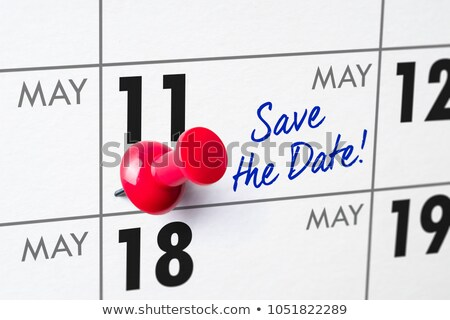 Wall calendar with a red pin - May 11 Stock photo © Zerbor